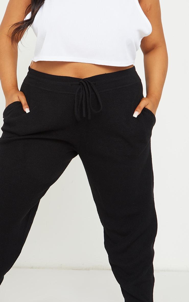 Plus Black Knit Joggers 4