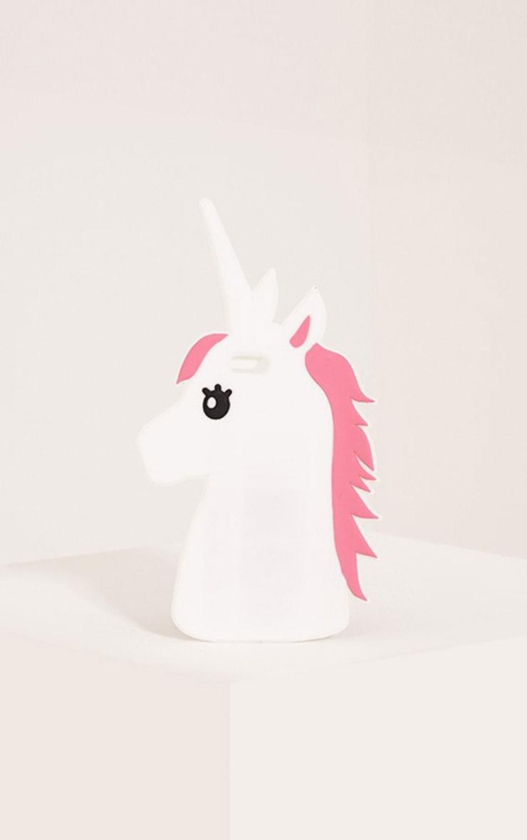 White Unicorn Iphone 6 Plus Case 1