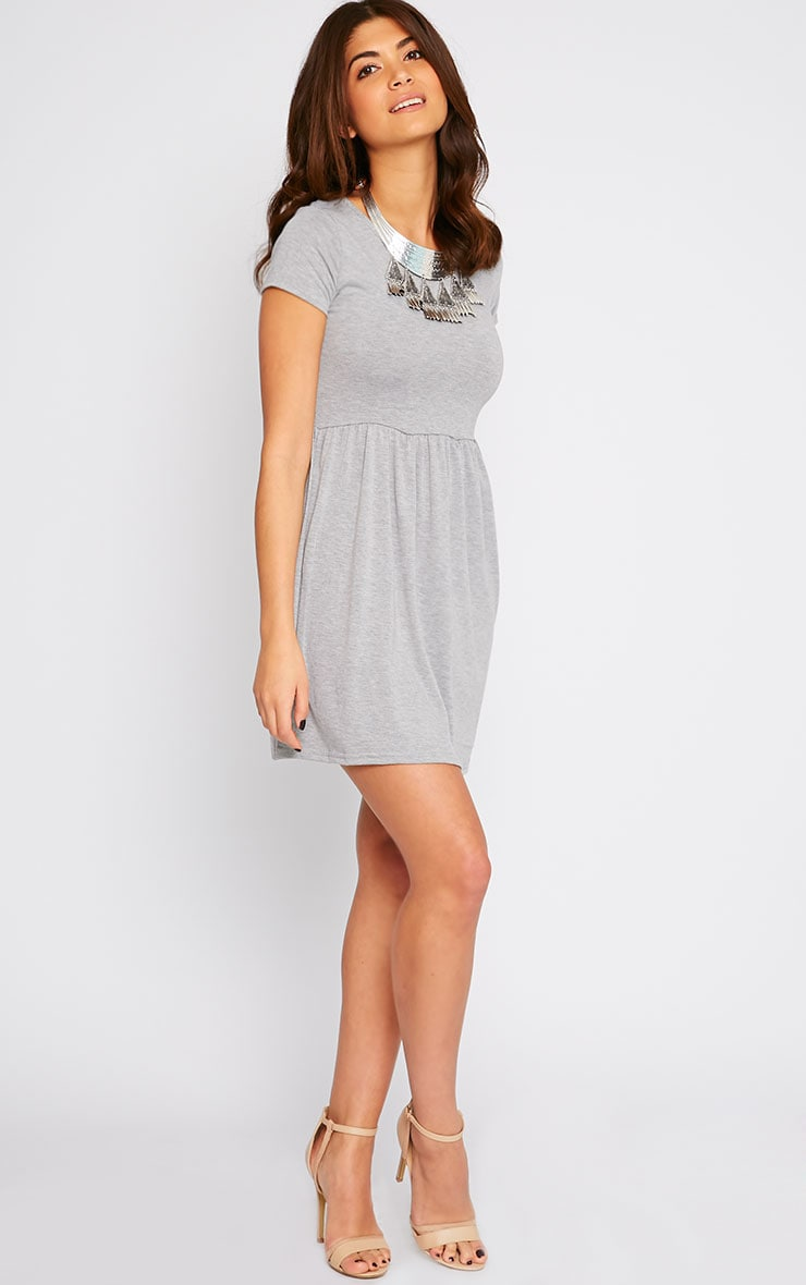 Basic Grey Skater Dress 3