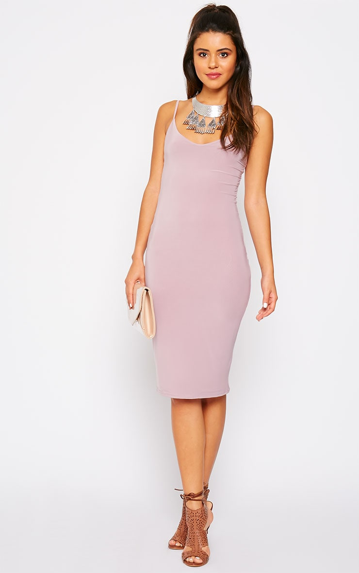 Harpe Mauve Slinky Midi Dress 3