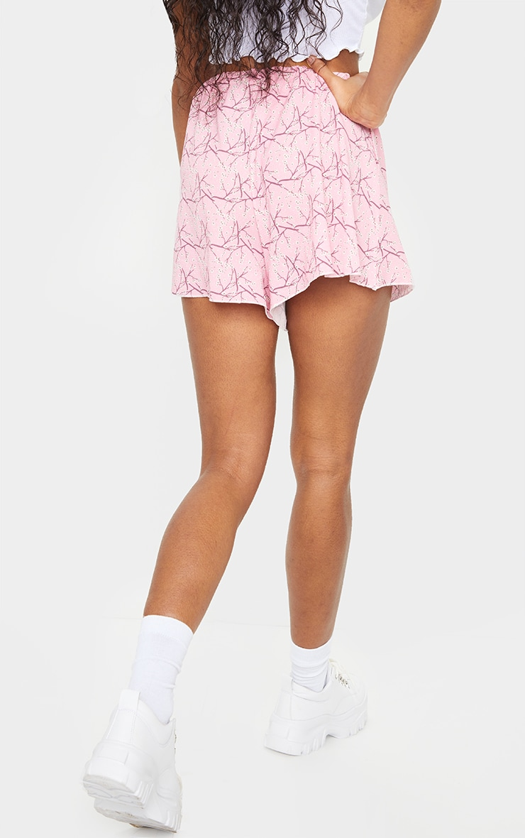 Pink Ditsy Floral Lightweight Floaty Shorts 3