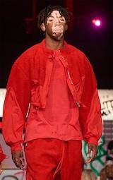 Red Borg Panel Nylon Crop Jacket 2