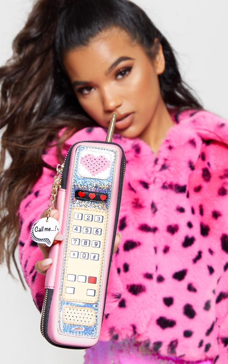 Sac rose en forme de téléphone 1