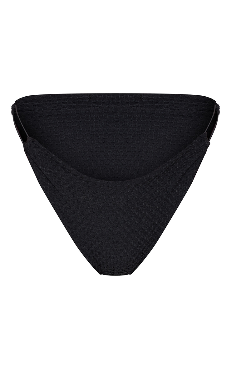 Black Waffle Texture Bikini Bottoms 6