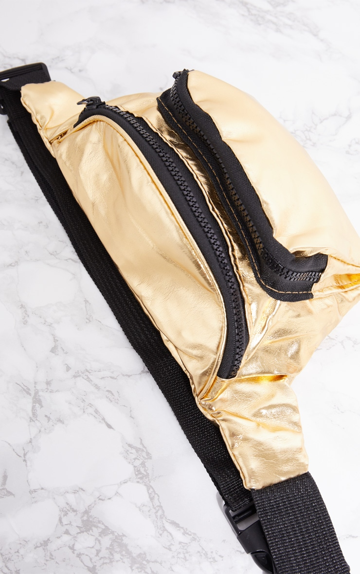 Gold Metallic Bum Bag 4