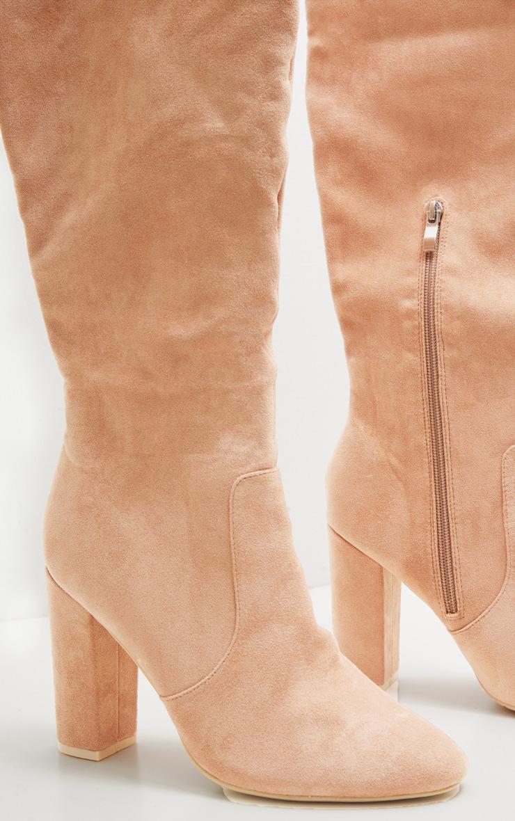 Nude Over The Knee Behati Boot  3