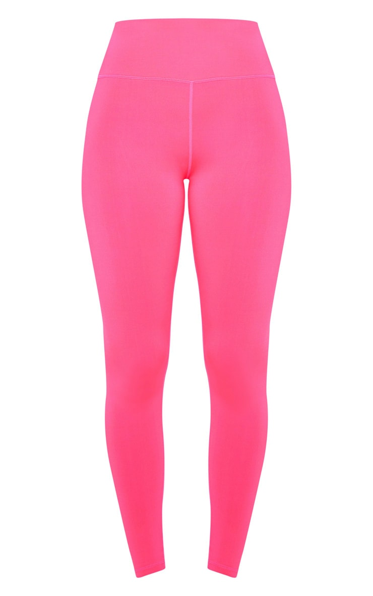 Hot Pink High Waist Cropped Gym Legging 3