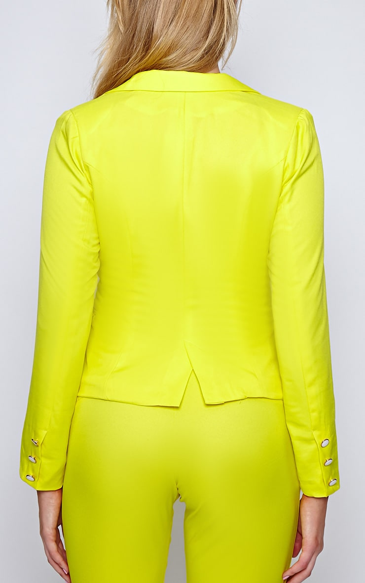 Ila Yellow Tailored Trouser And Blazer Suit Set 2