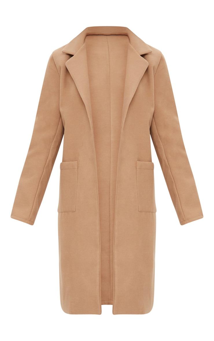 Beige Pocket Front Coat  3