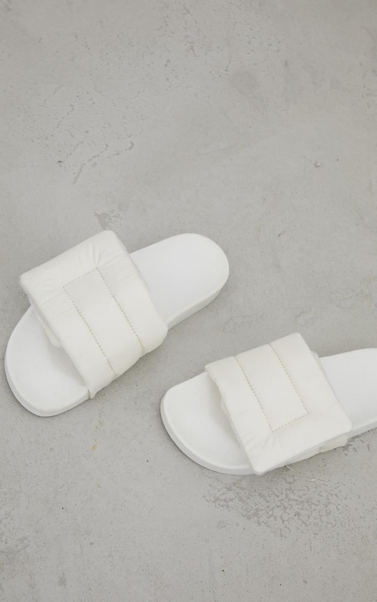 Cream Nylon Padded Velcro Sliders 3