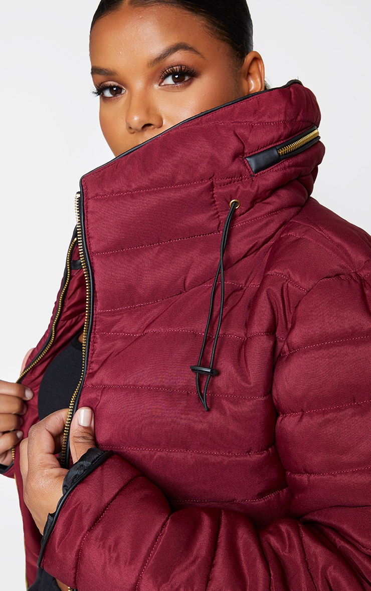 Plus Mara Burgundy Puffer Jacket 4