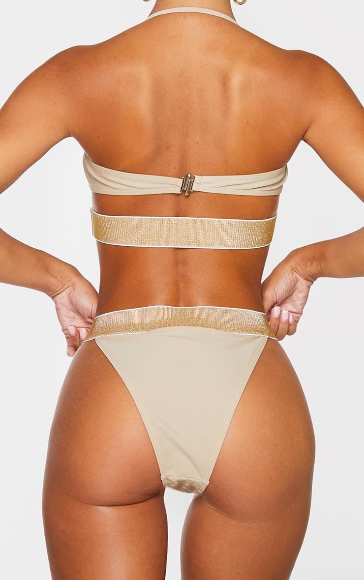 Sand Glitter Waist Tanga Bikini Bottom 3