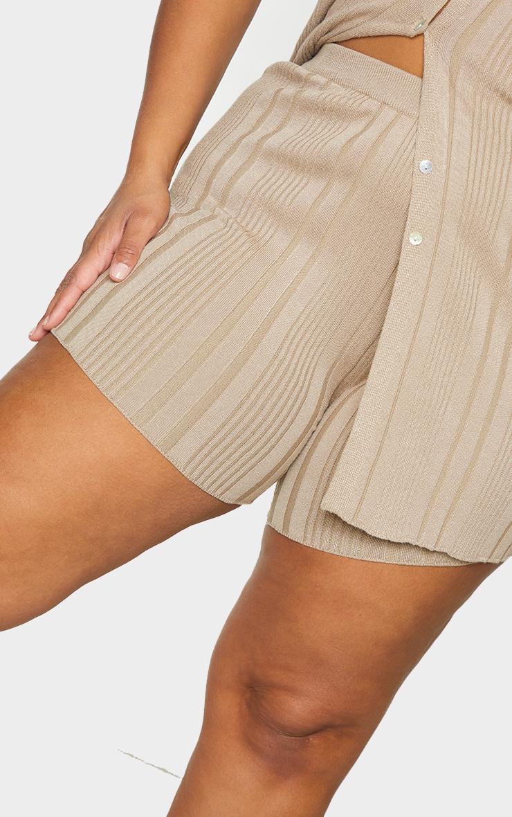 Plus Stone Knit Rib Cycle Shorts 5