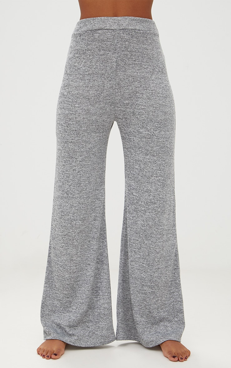 Grey Marl Knit Wide Leg Lounge Set 6
