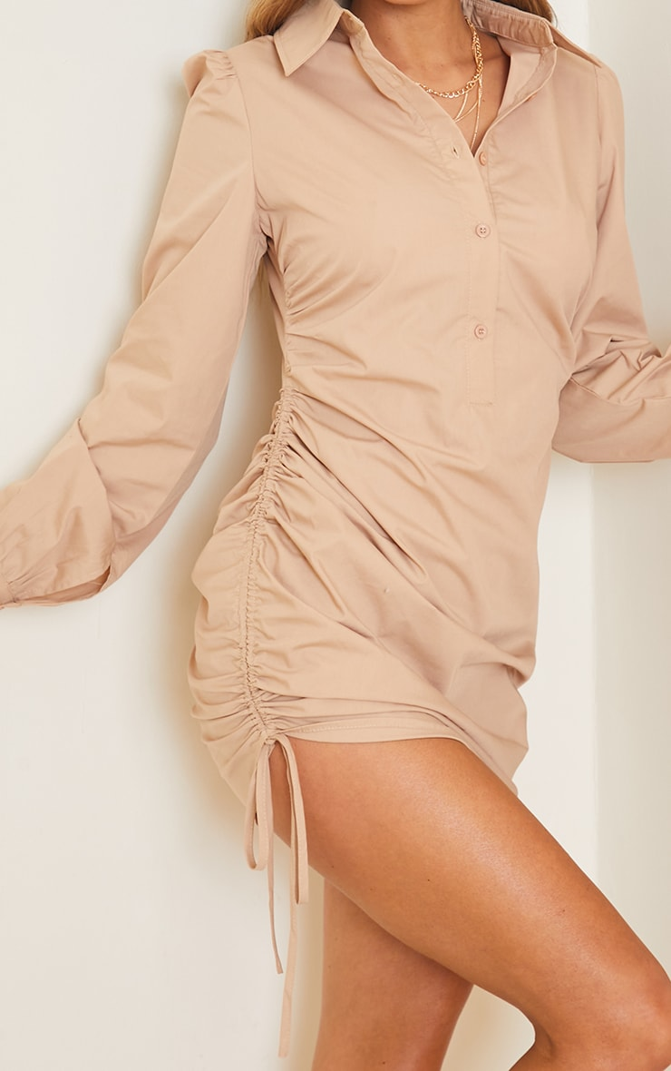 Stone Ruched Side Fitted Dress 4