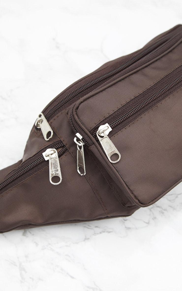 Brown Front Pocket Bum Bag 4