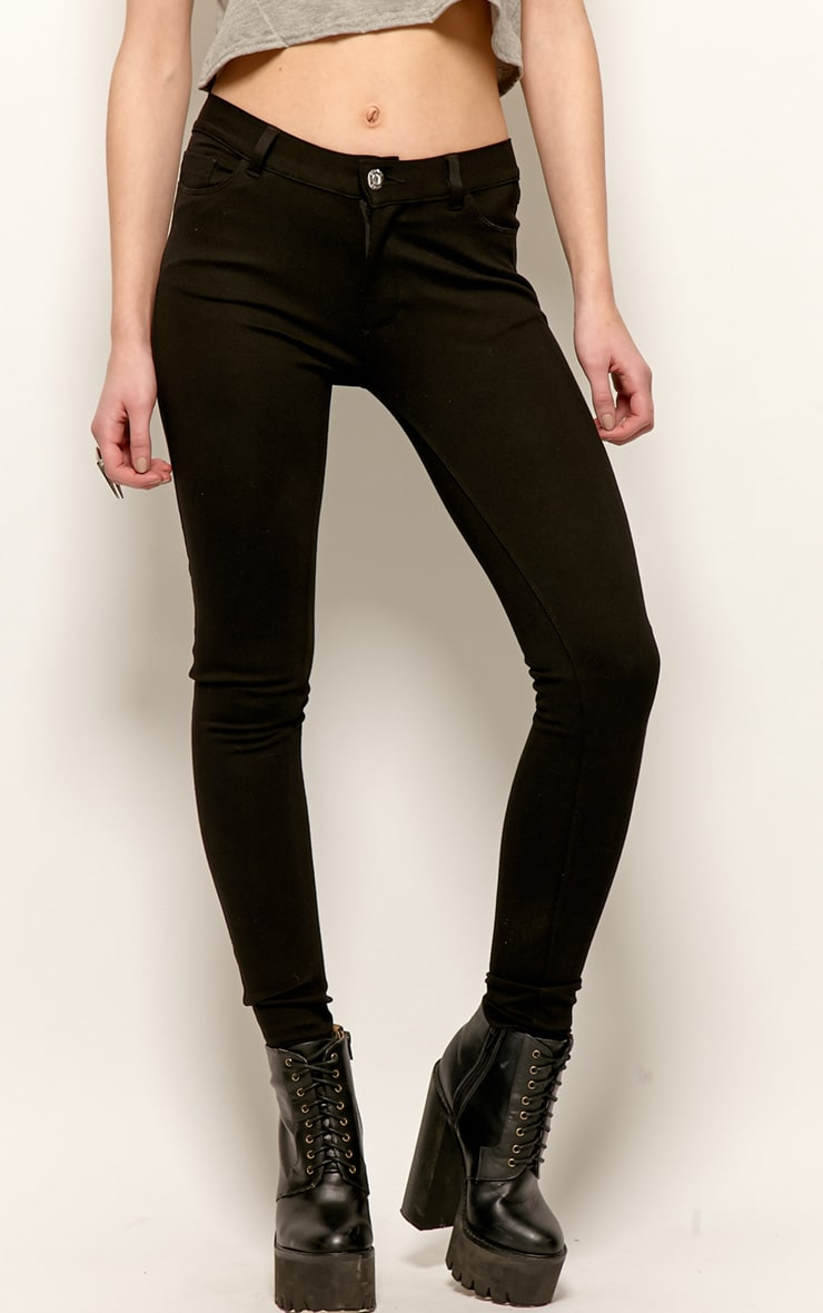 Evelyn Black Jeggings 3