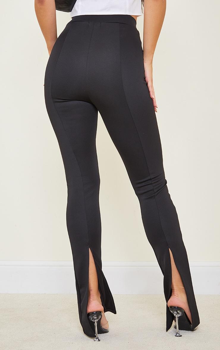 Tall Black Back Split Hem Pants 3