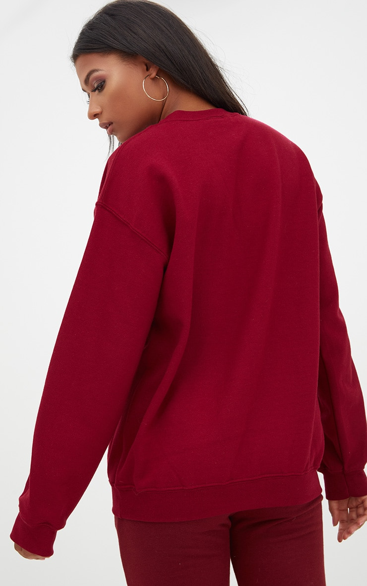 Burgundy Ultimate Oversized Sweater 2