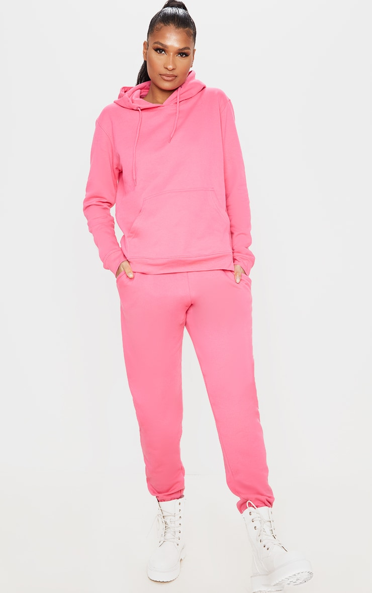 Candy Pink Casual Joggers