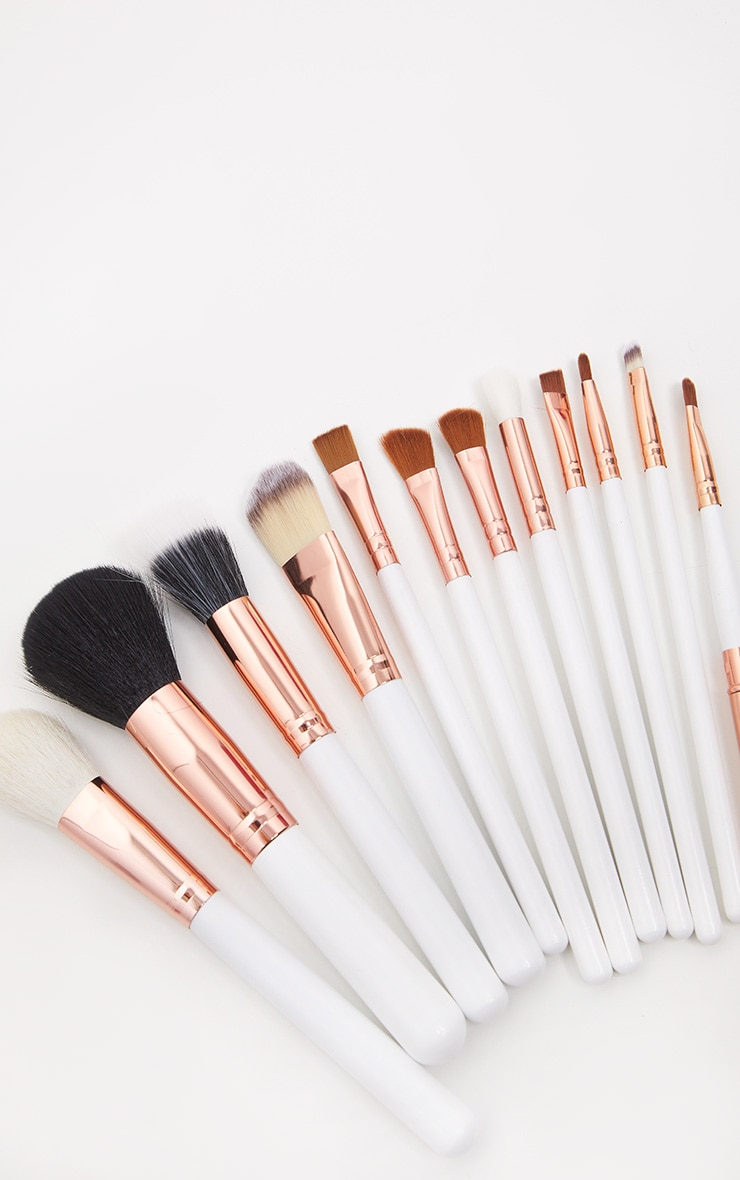 Zoe Ayla 12 Piece White Professional Make-up Brush Set  5
