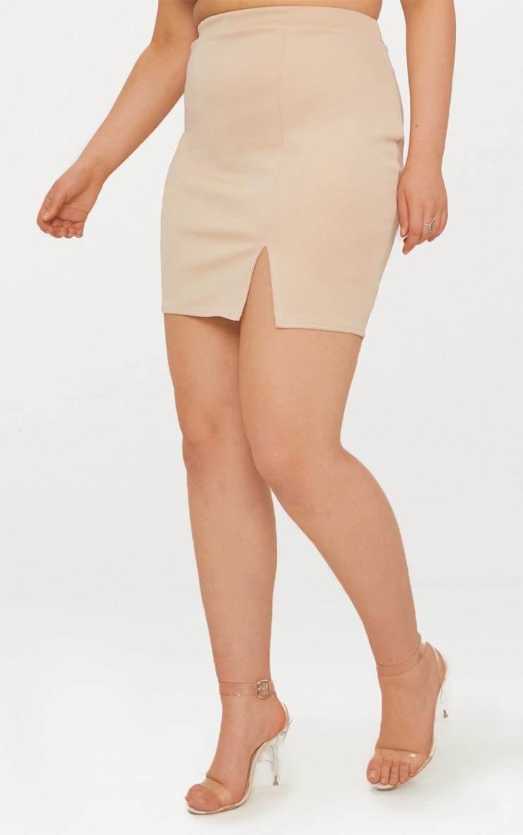 Plus Stone Basic Mini Split Front Skirt 2