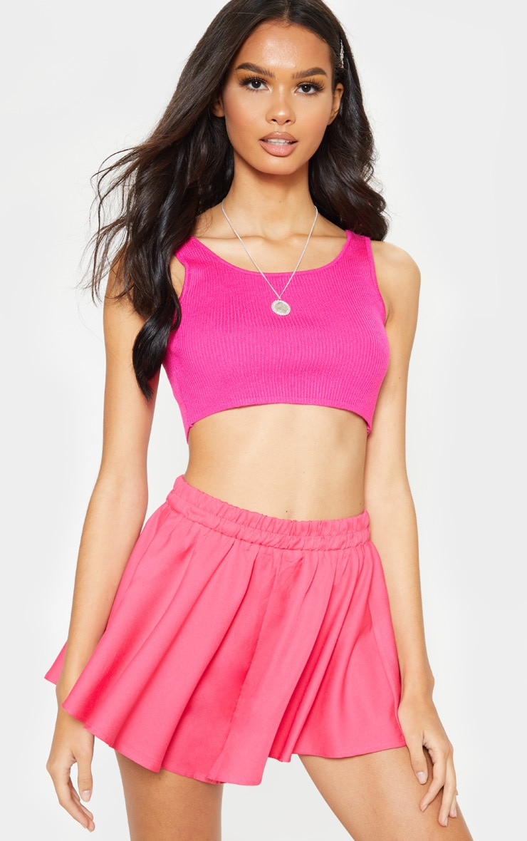 Hot Pink Floaty Shorts 1