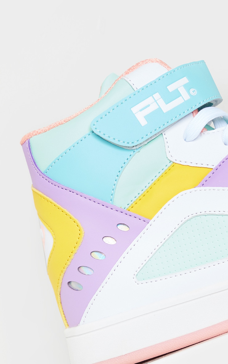PRETTYLITTLETHING Multi Strap High Top Trainers 5