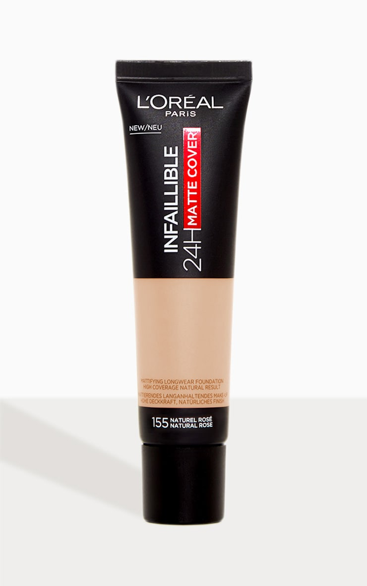 L'Oreal Paris Infallible 24hr Matte Cover Foundation 155 Natural Rose 1