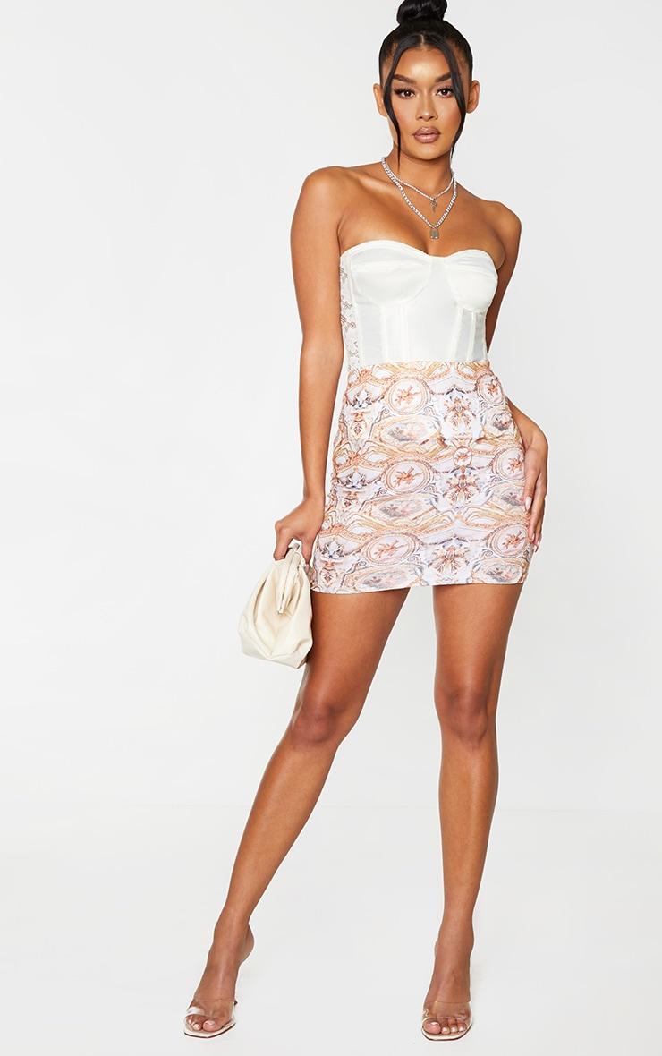 Multi Statue Print Mini Skirt 4