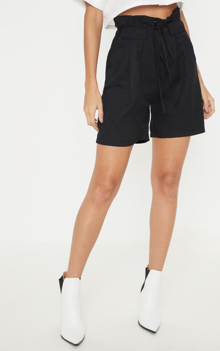 Black Tie Waist Shorts 2