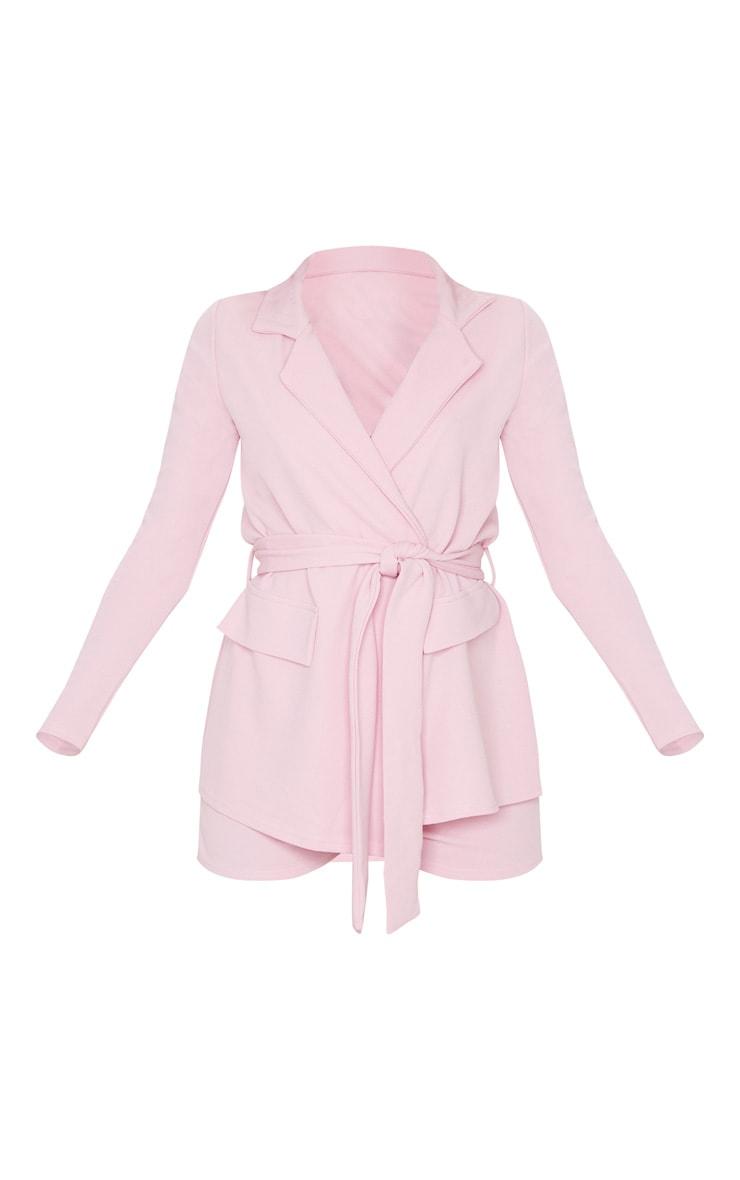 Pink Belted Pocket Detail Blazer 4
