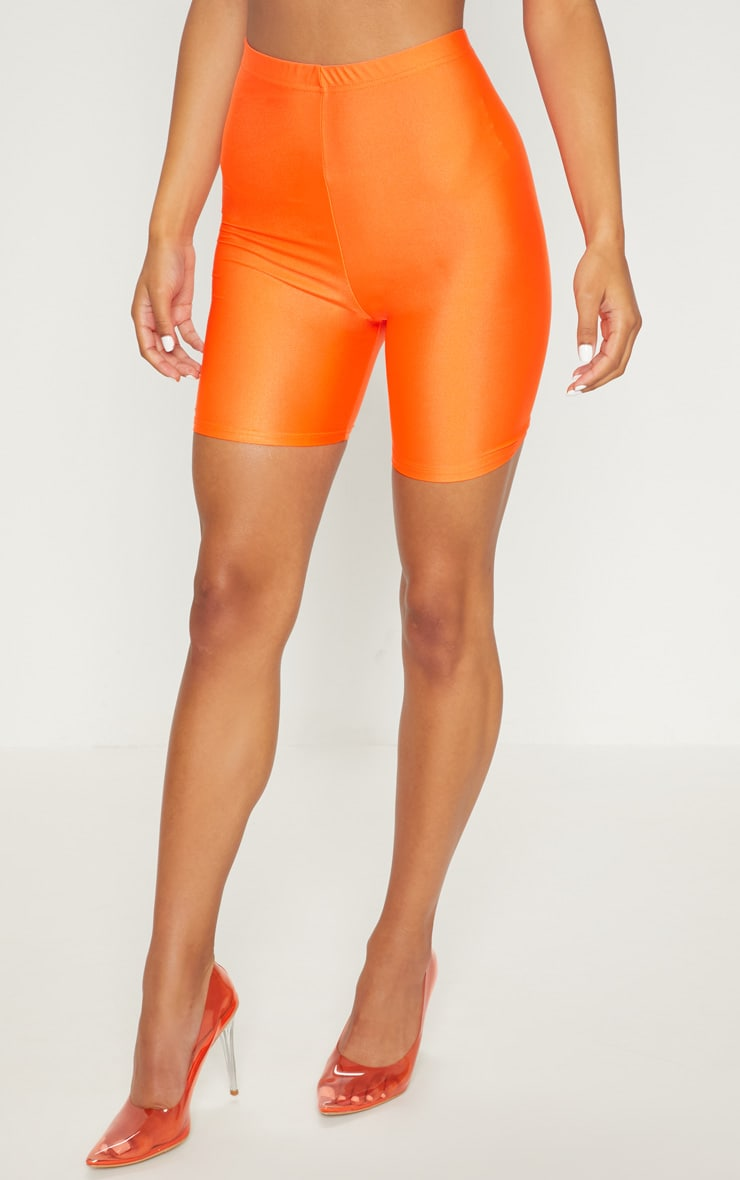 Orange Neon Bike Shorts 2