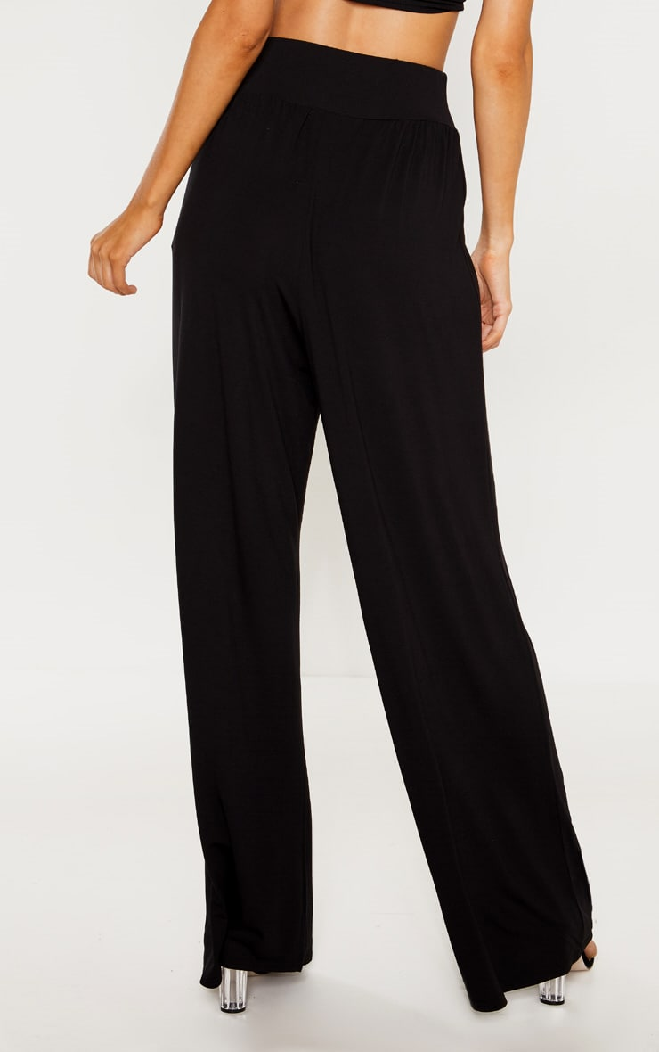 Tall Black High Waist Wide Leg Pants 4
