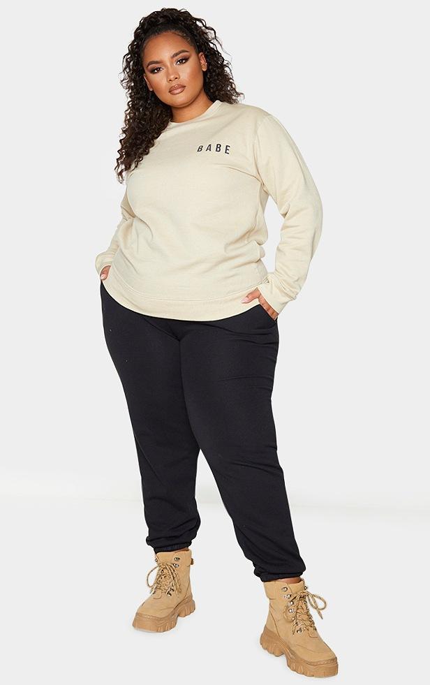 Plus Babe Sand Slogan Sweater 3