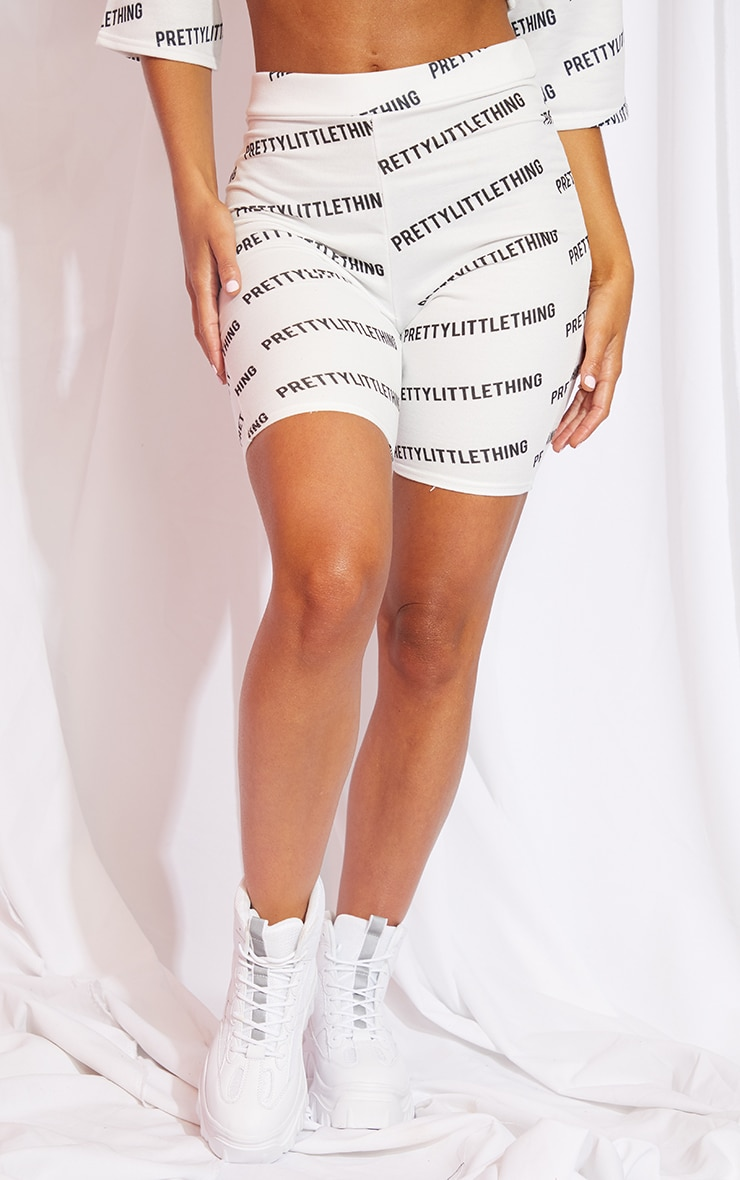 PRETTYLITTLETHING White Cycle Shorts 3