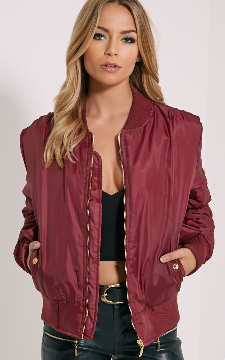 Alexus Wine Bomber Jacket 1