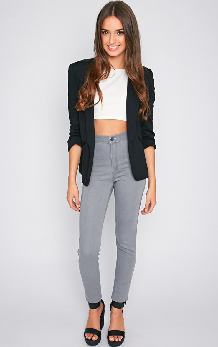 Dina Grey High Waist Skinny Jean  1