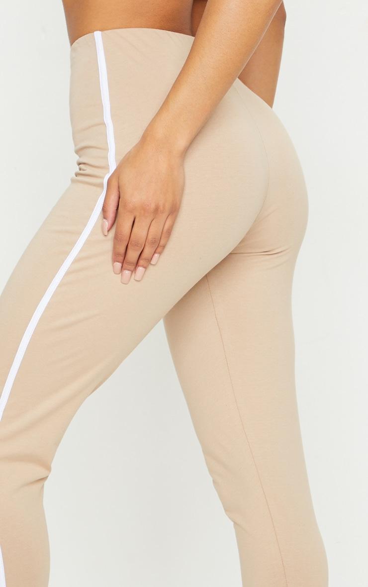 Stone Stripe Split Hem Leggings 4