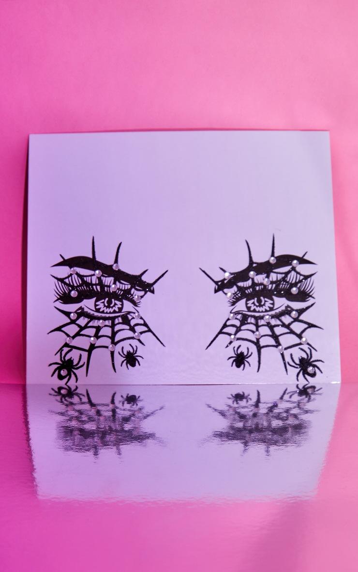 PRETTYLITTLETHING Diamante Cobweb Halloween Stickers 3