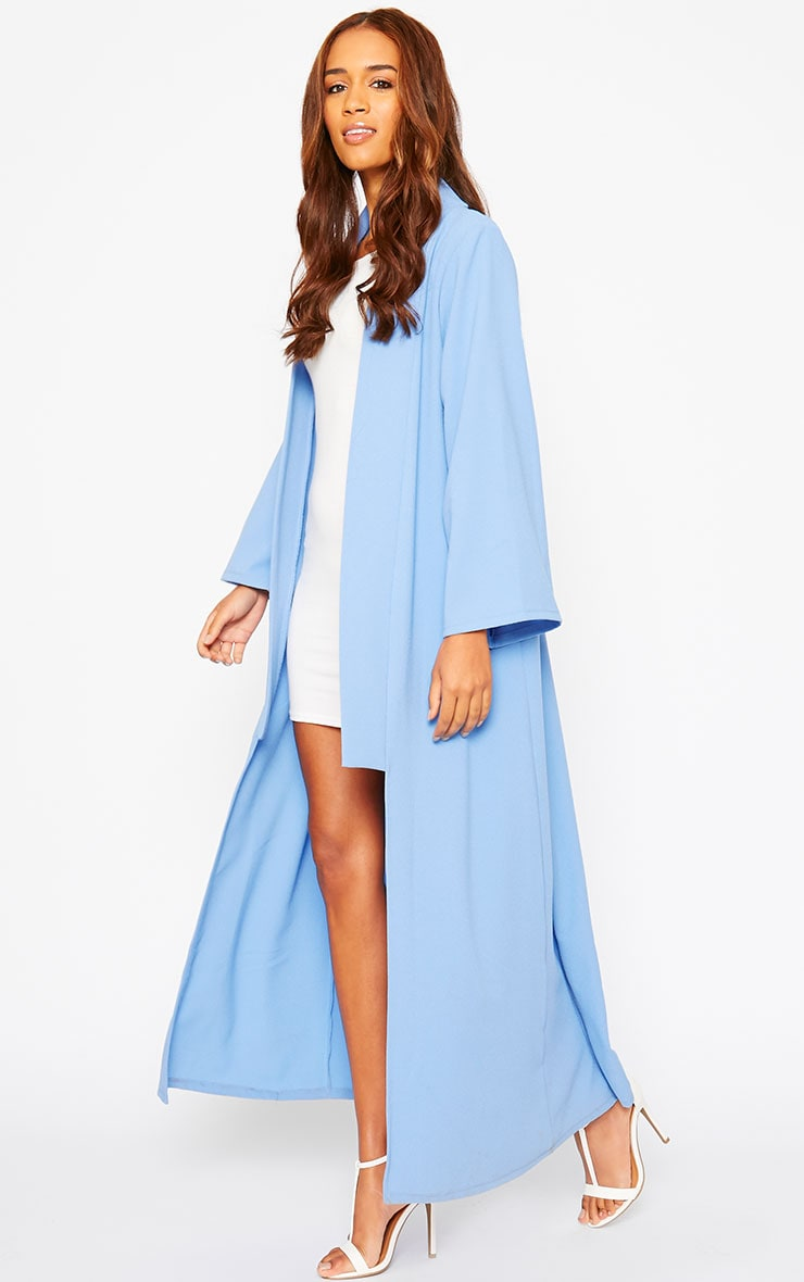 Robin Powder Blue Maxi Duster Coat 4