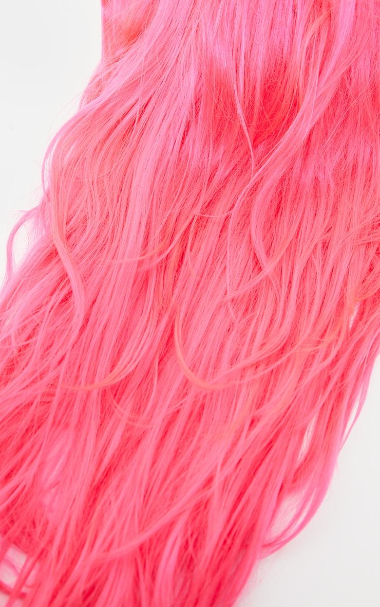 Neon Pink Premium Long Wig 3