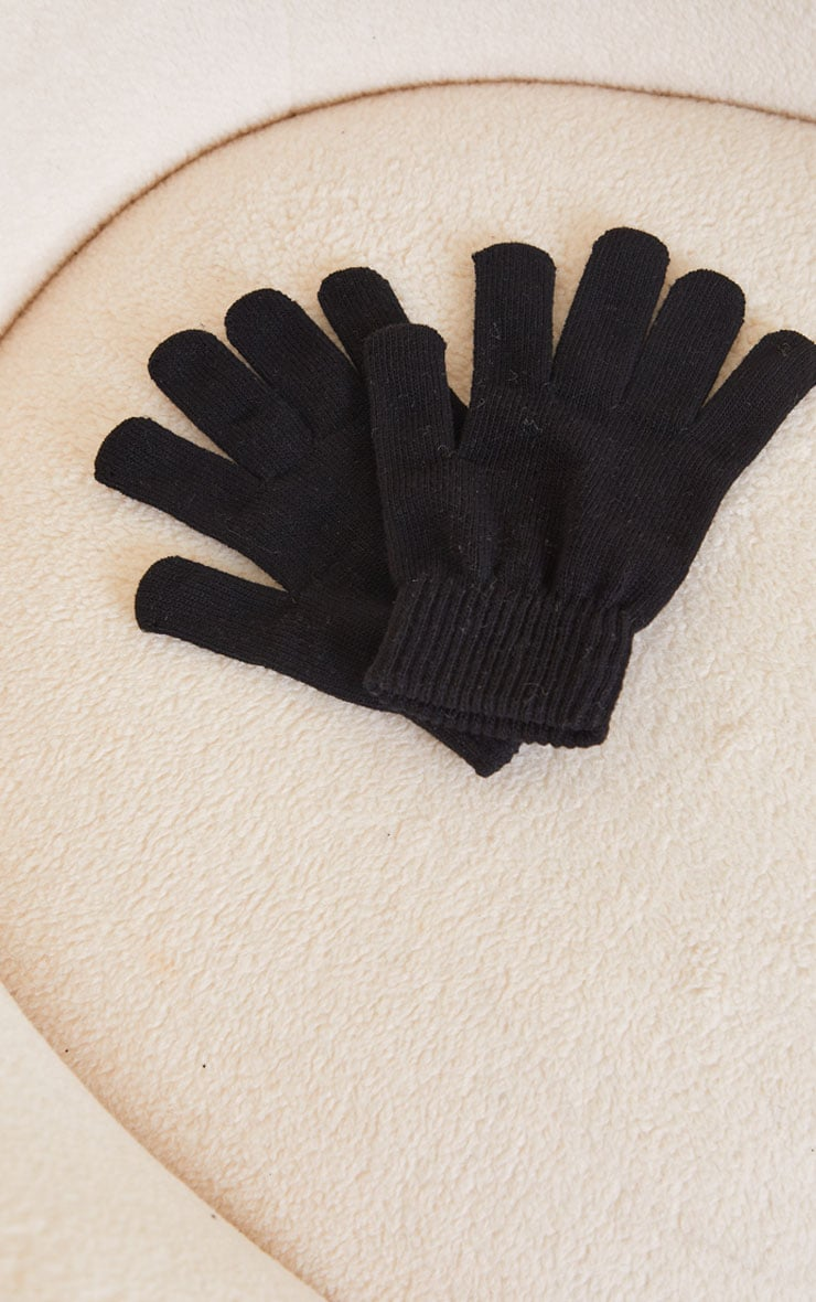 Black Recycled Gloves 2