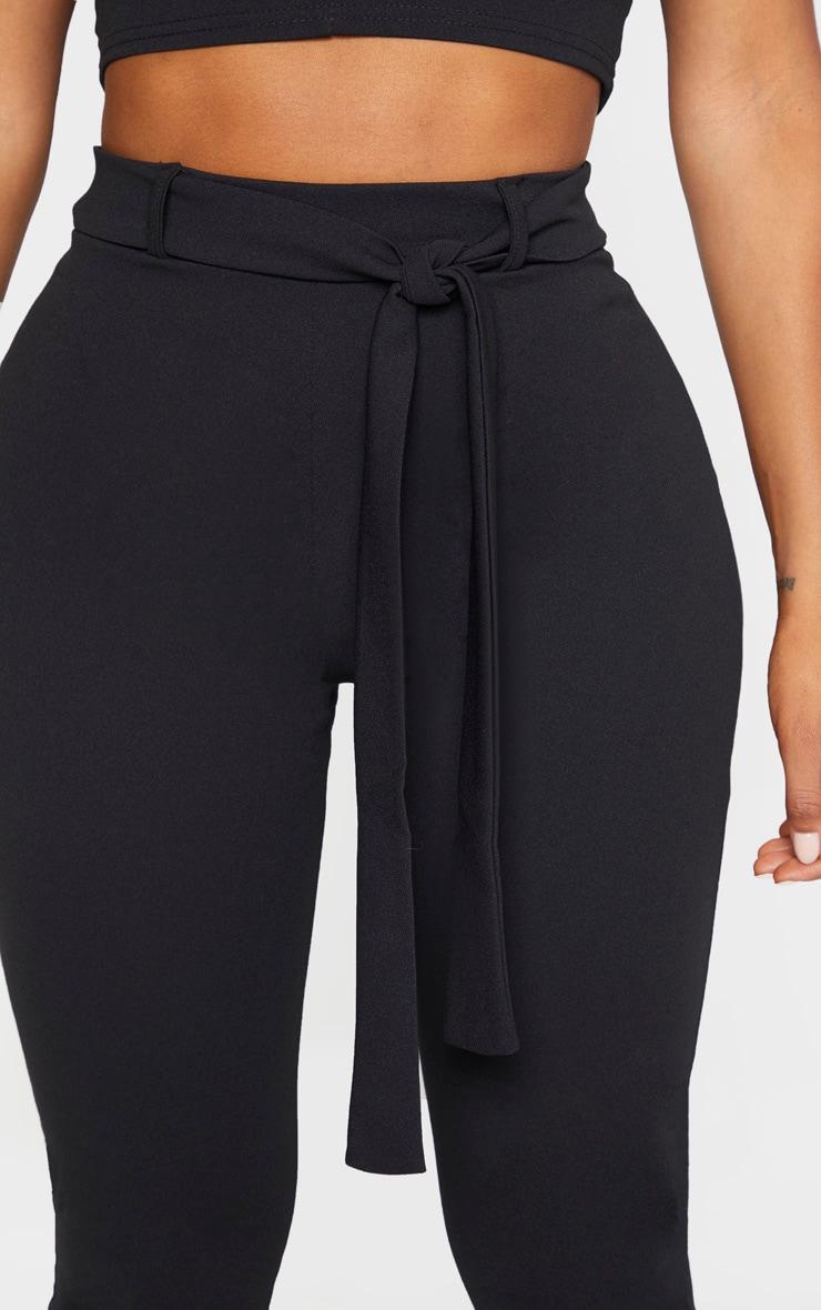 Shape Black Belted Tapered Pants 5