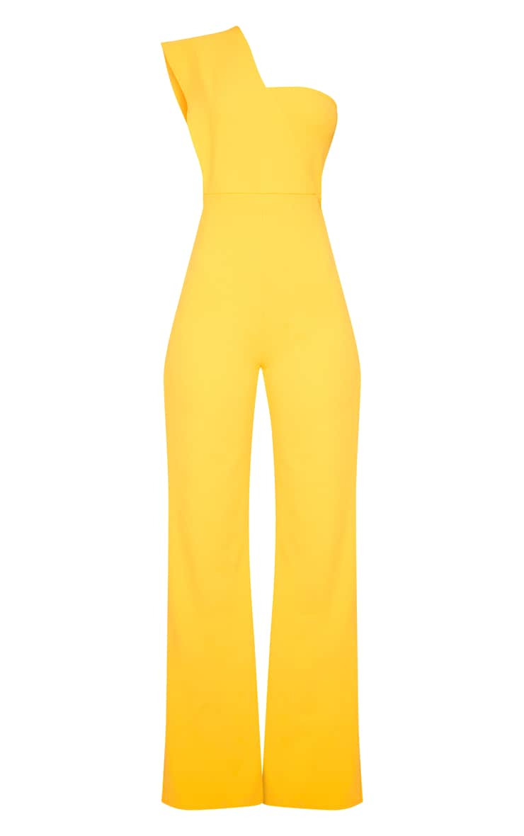 Orange Drape One Shoulder Jumpsuit 3