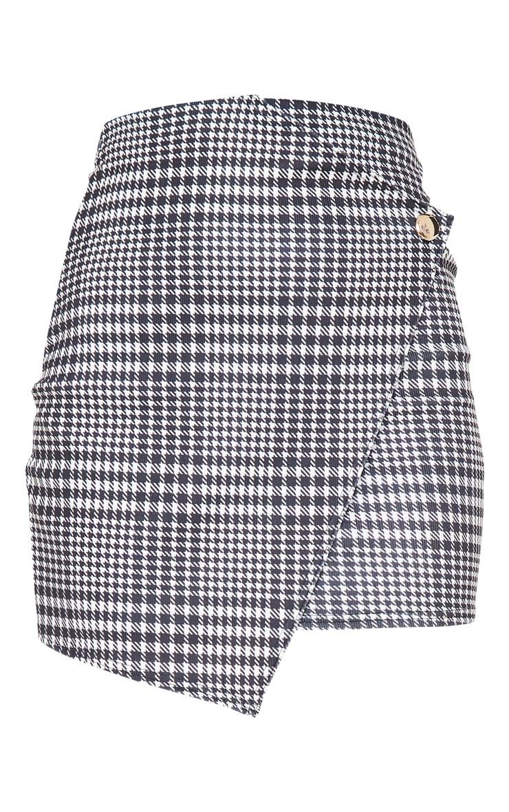 Monochrome Check Wrap Mini Skirt 3