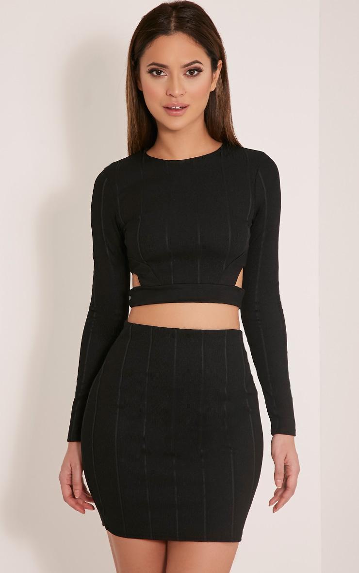 Miriam Black Bandage Mini Skirt 1