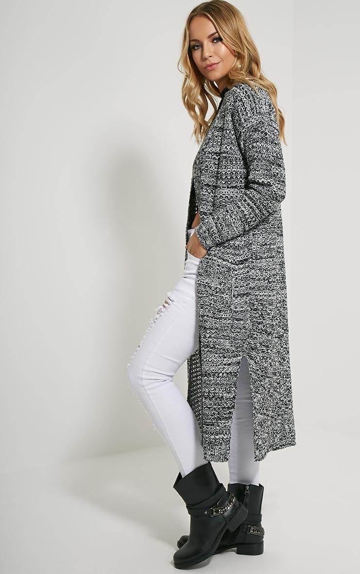 Hadley Black Longline Knitted Cardigan 5