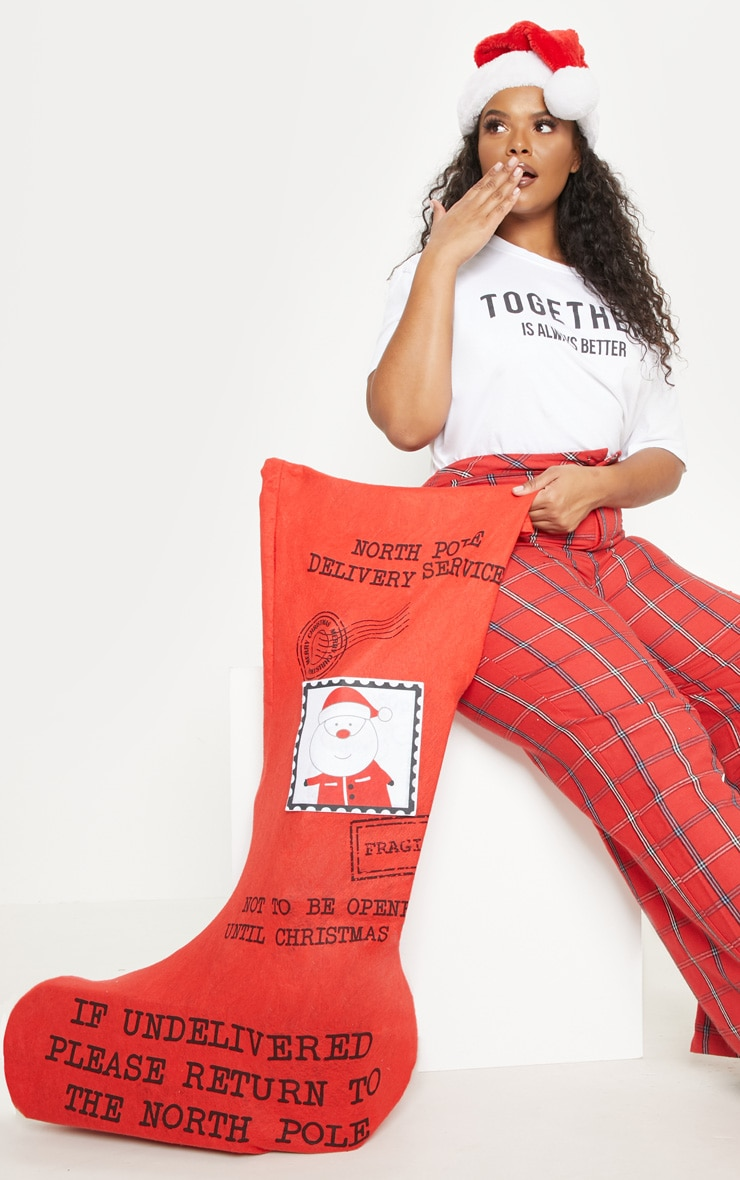Red XL Christmas Stocking 1