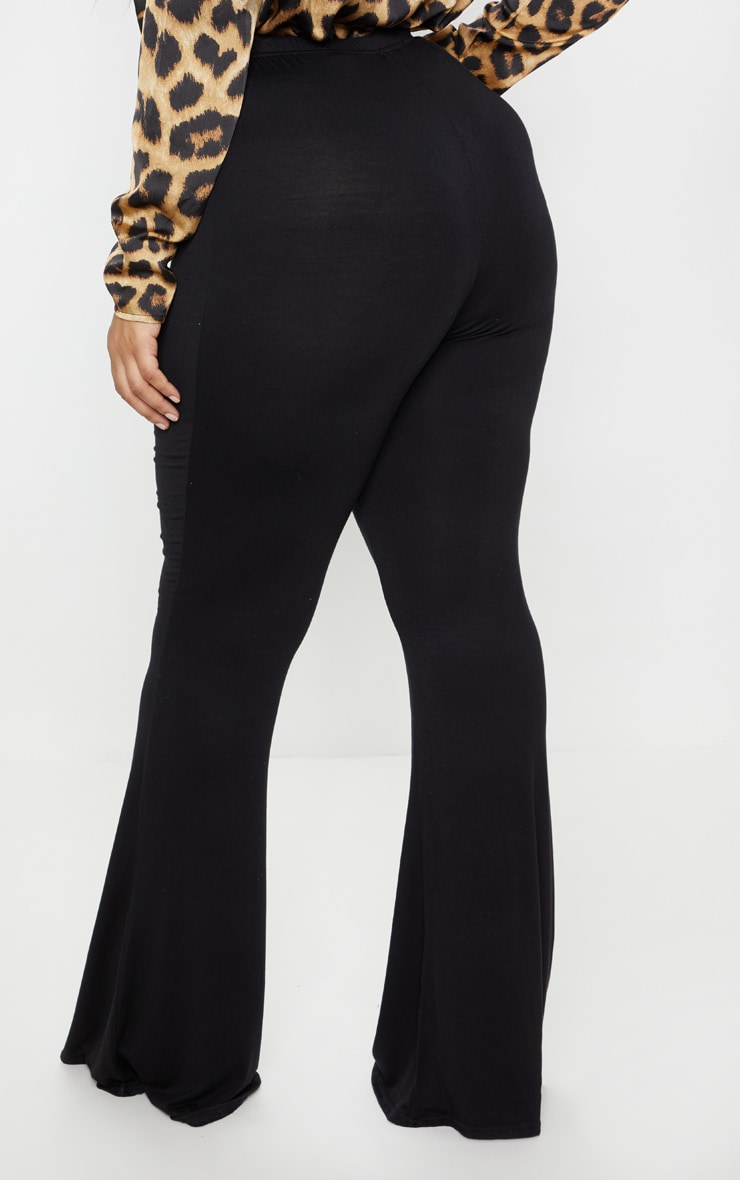 Plus Black Basic Flared Pants 4